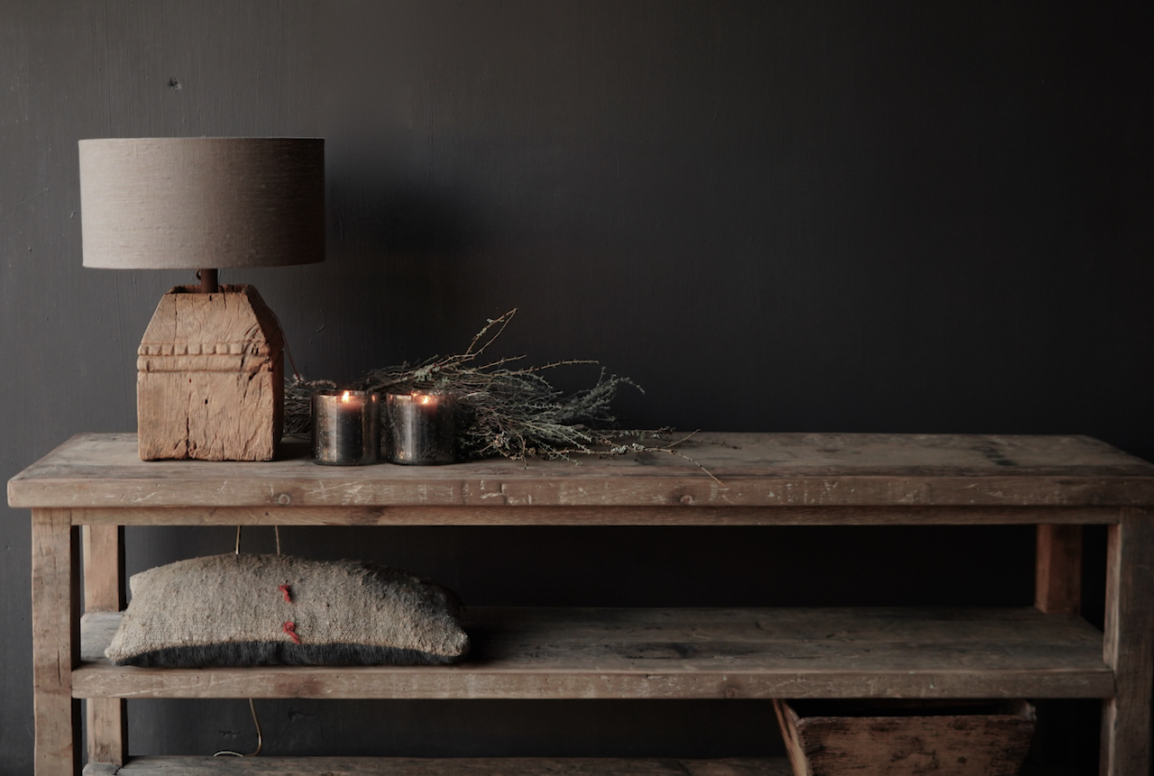 Reservierte TV-Möbel / Wandtisch aus altem gebrauchtem Holz-2