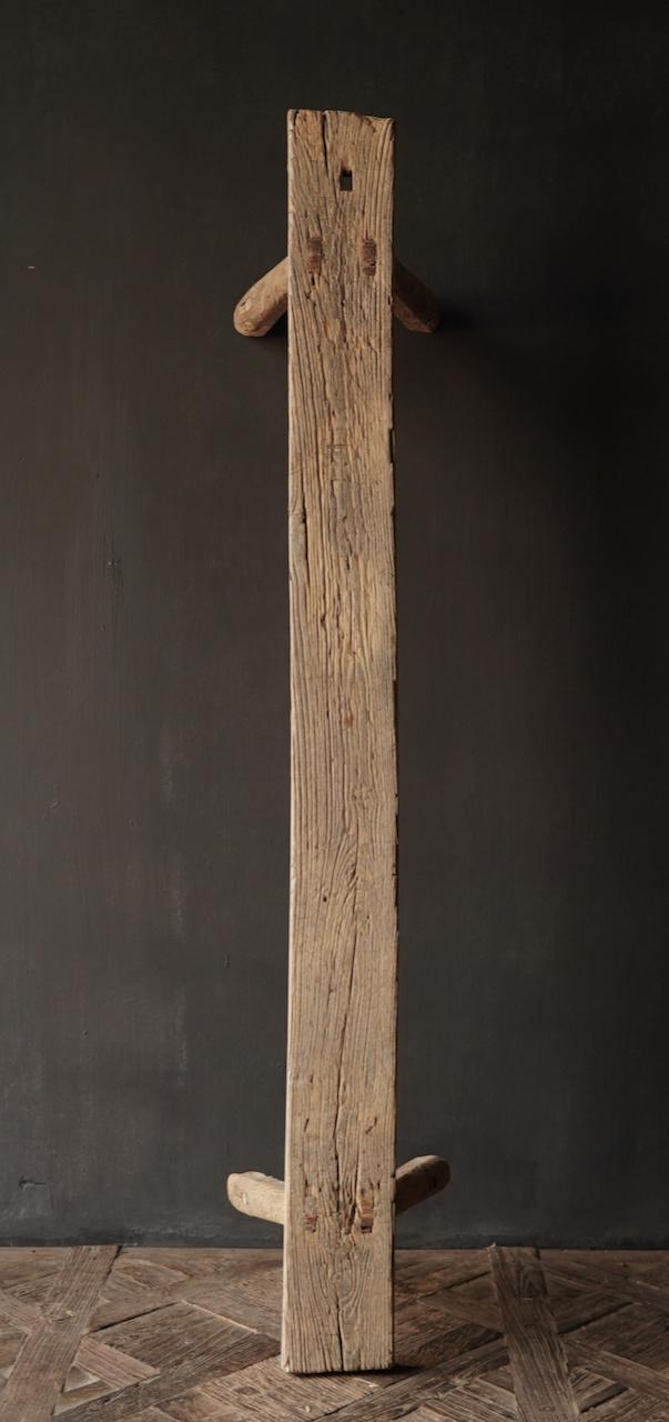 Authentiek  oud houten Bank-8
