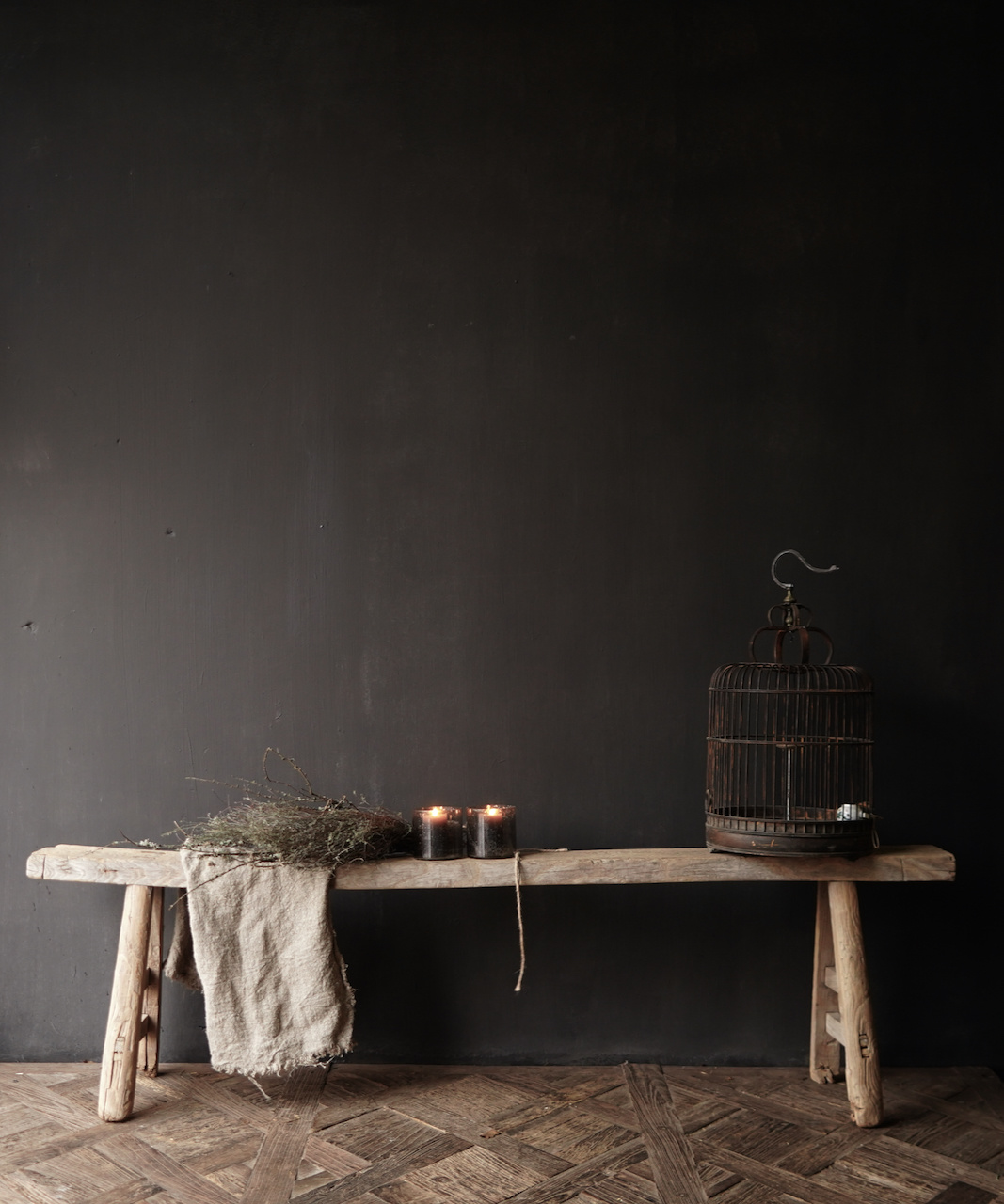 Authentic old wooden bench-1