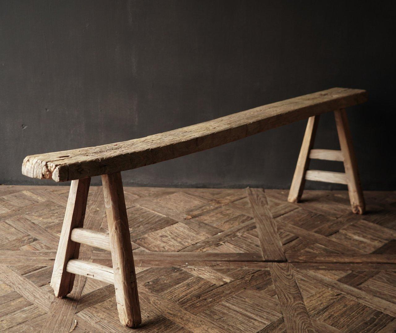 Authentiek  oud houten Bank-3