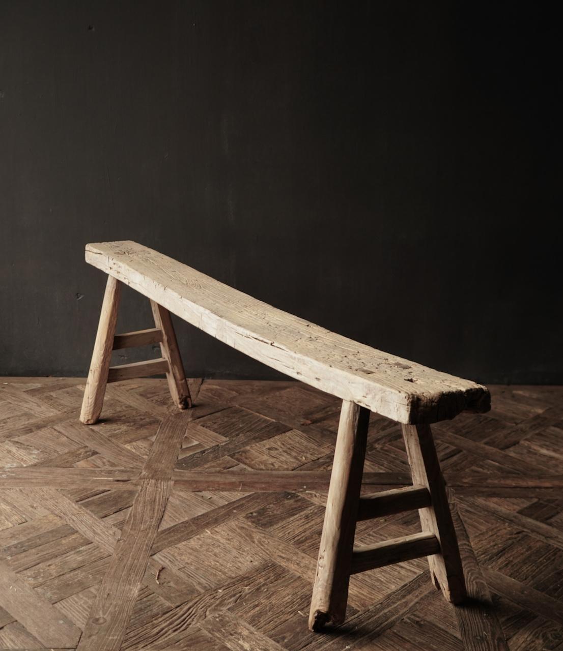 Authentiek  oud houten Bank-4
