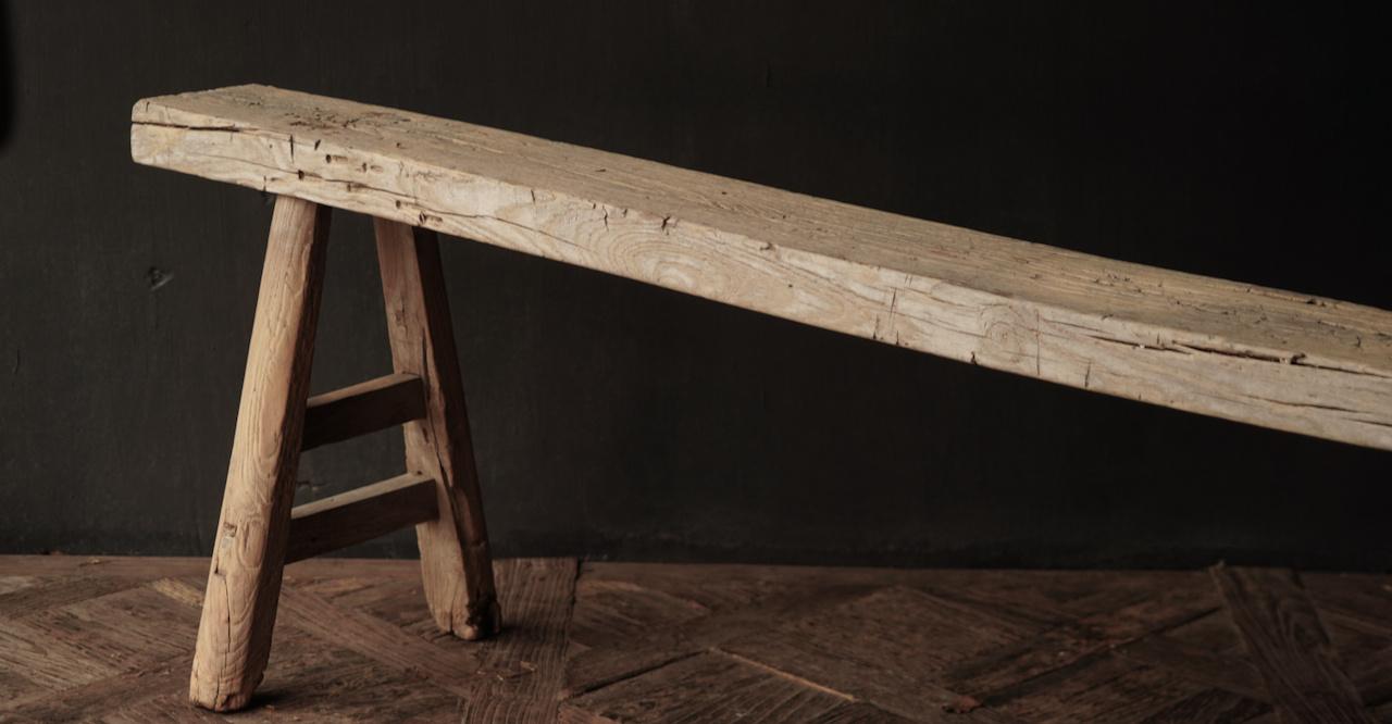 Authentiek  oud houten Bank-5