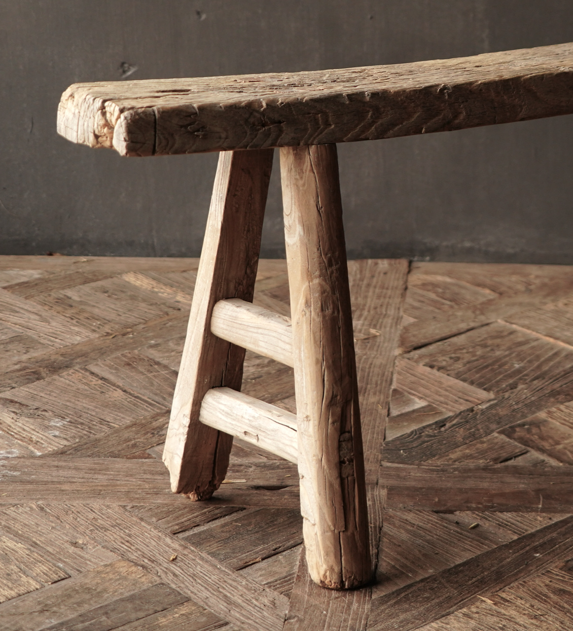 Authentiek  oud houten Bank-6