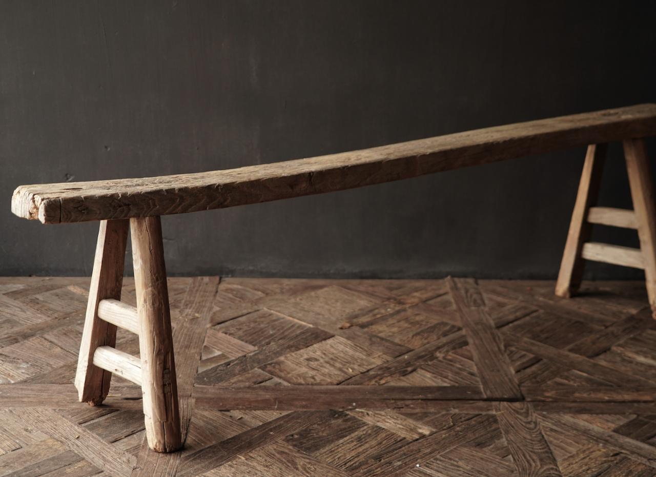 Authentiek  oud houten Bank-7