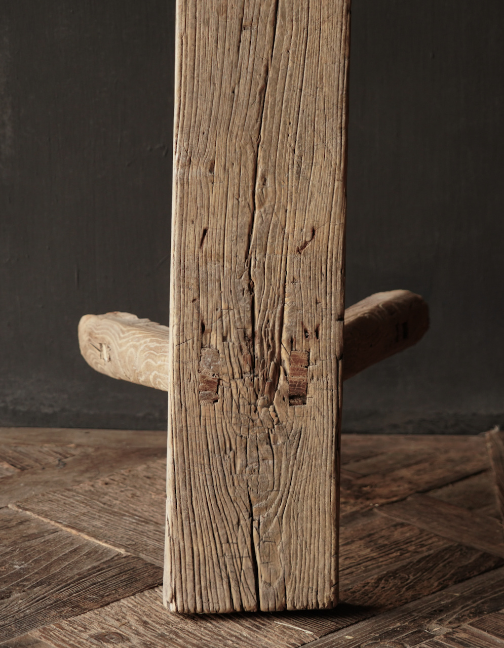 Authentic old wooden bench-9