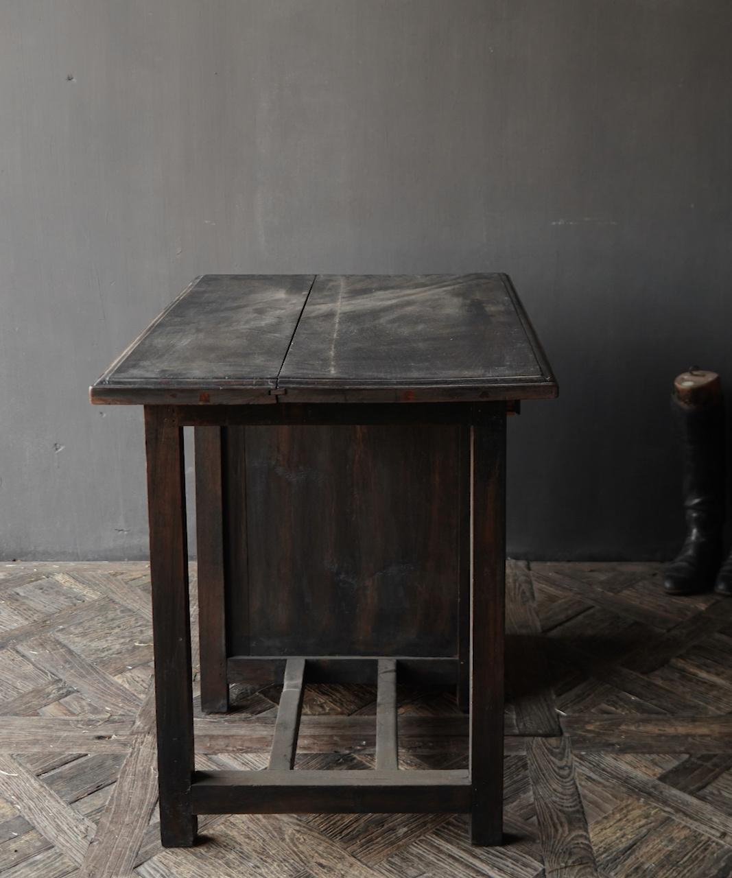 Authentischer alter Schreibtisch / Wandtisch mit Tür und Schublade-6