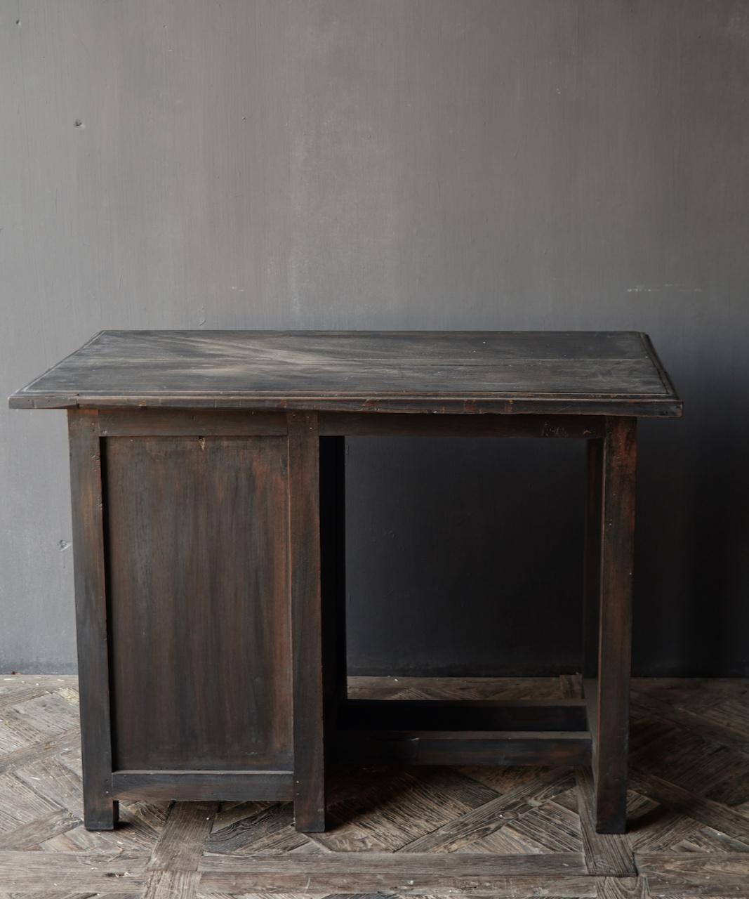 Authentischer alter Schreibtisch / Wandtisch mit Tür und Schublade-8
