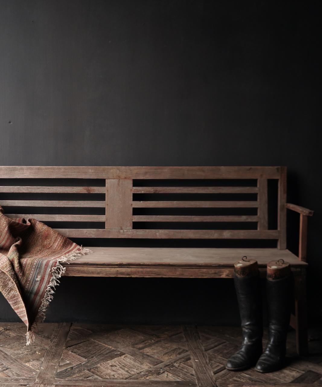 Authentiek oude houten Bank-2