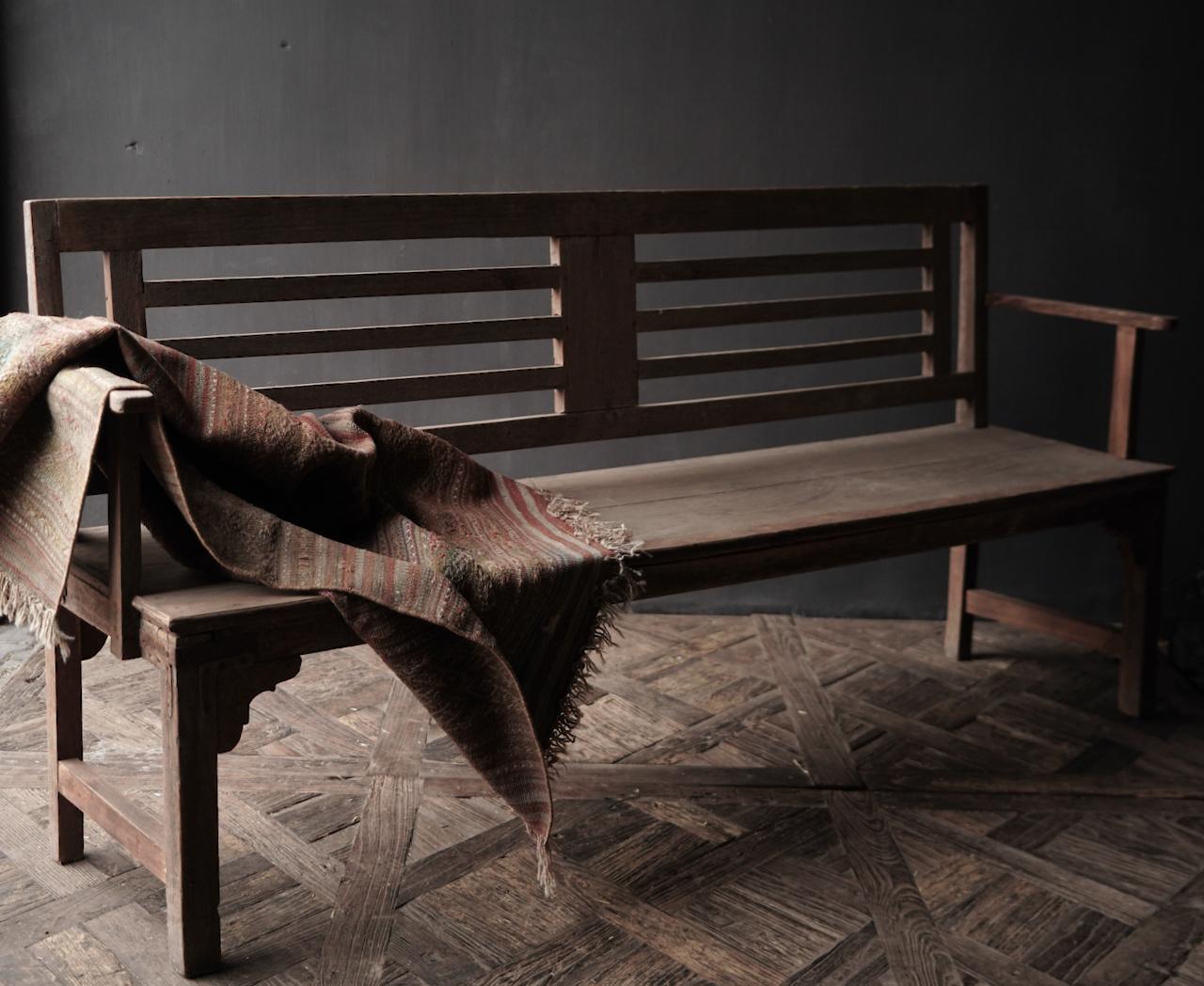 Authentiek oude houten Bank-5