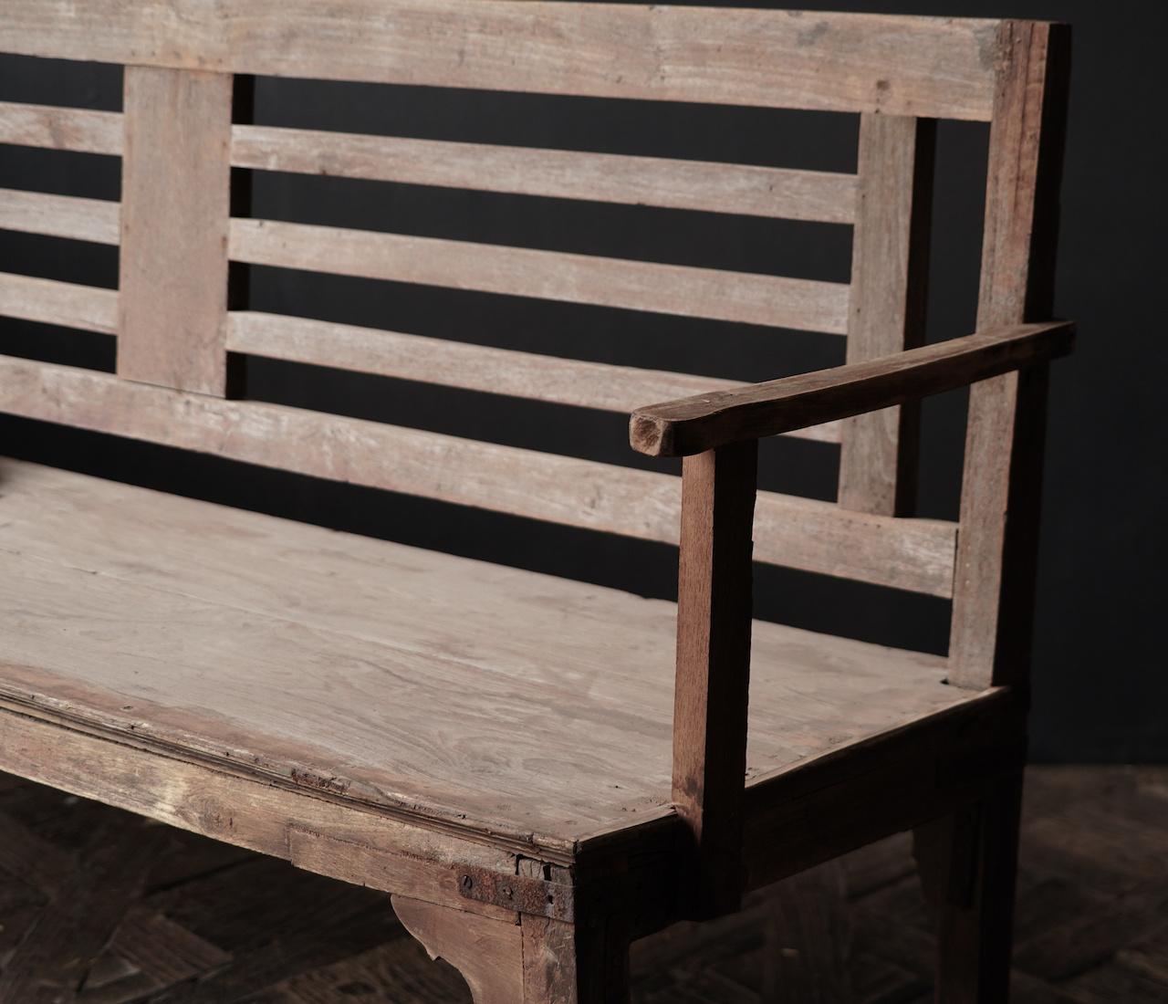 Authentiek oude houten Bank-8