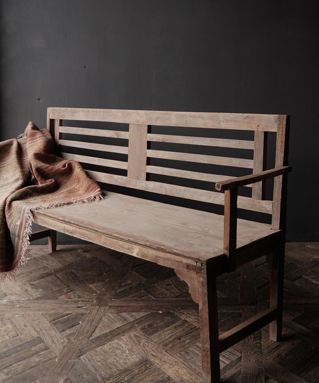 Authentiek oude houten Bank-9