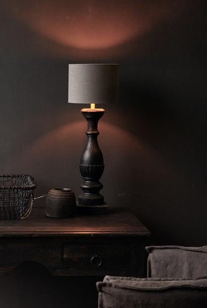 Donker Zwart/Bruin Houten lamp voet