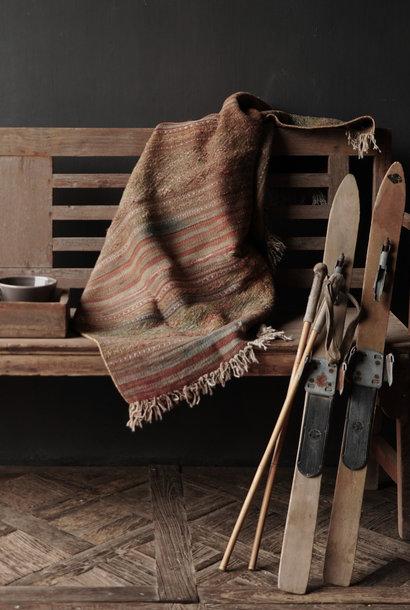 Set Antike Holzskier / Ski