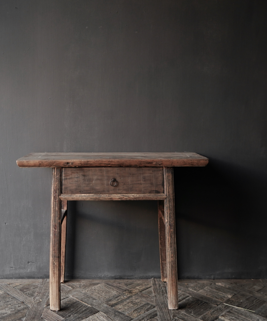 Authentieke Sidetable oftewel muurtafel met een lade-3