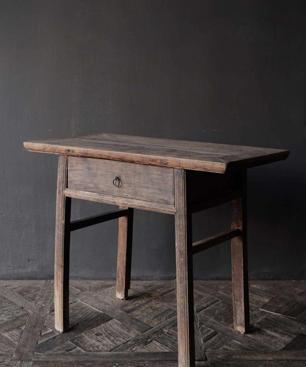 Authentieke Sidetable oftewel muurtafel met een lade-8