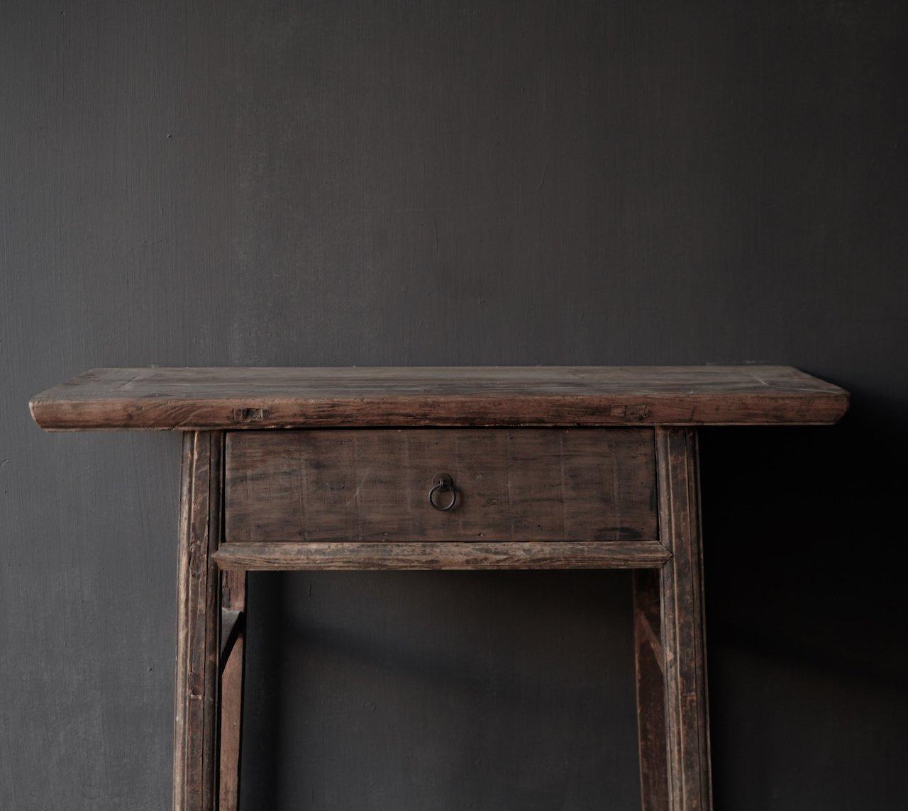 Authentieke Sidetable oftewel muurtafel met een lade-9