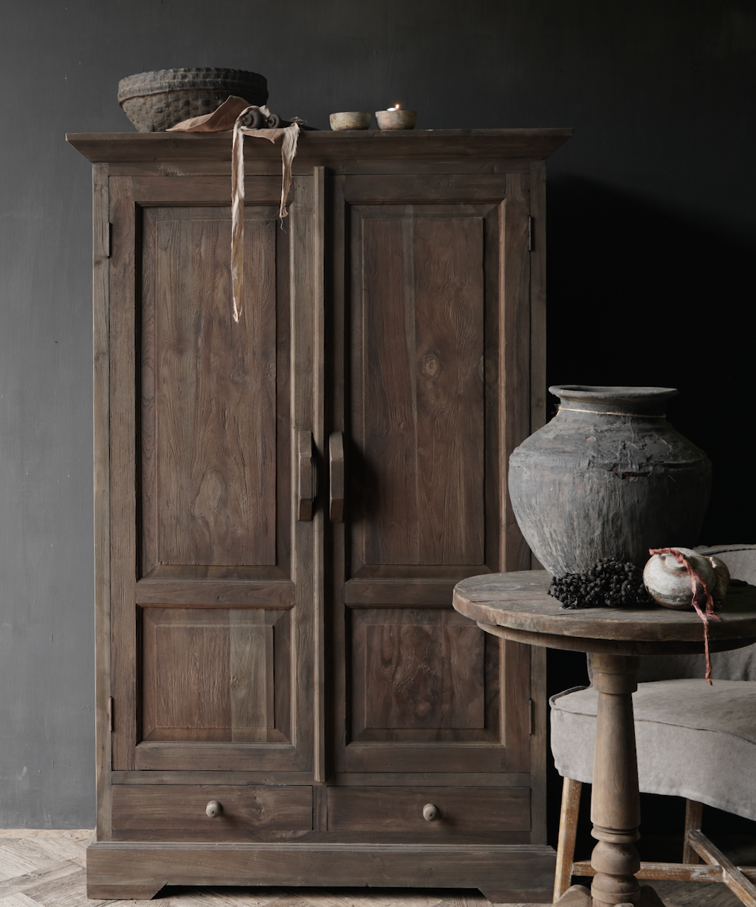Beautiful old wooden cabinet-1