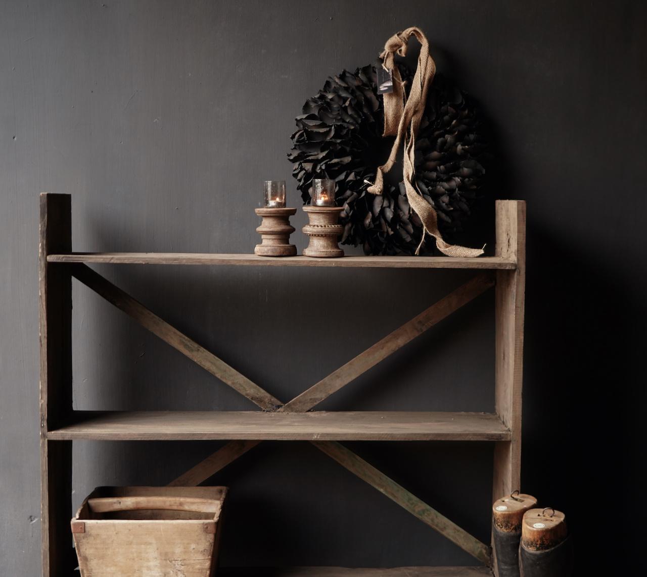 Gestell aus altem gebrauchtem Holz-4