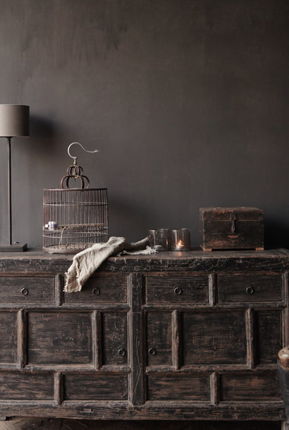 Old Authentic Black / Brown Sideboard
