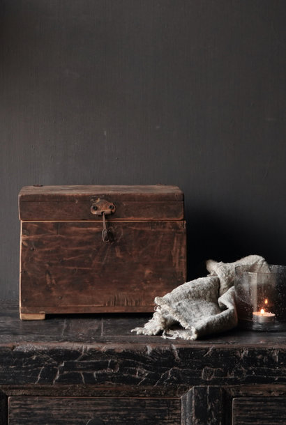 Oud Uniek Authentiek houten kistje