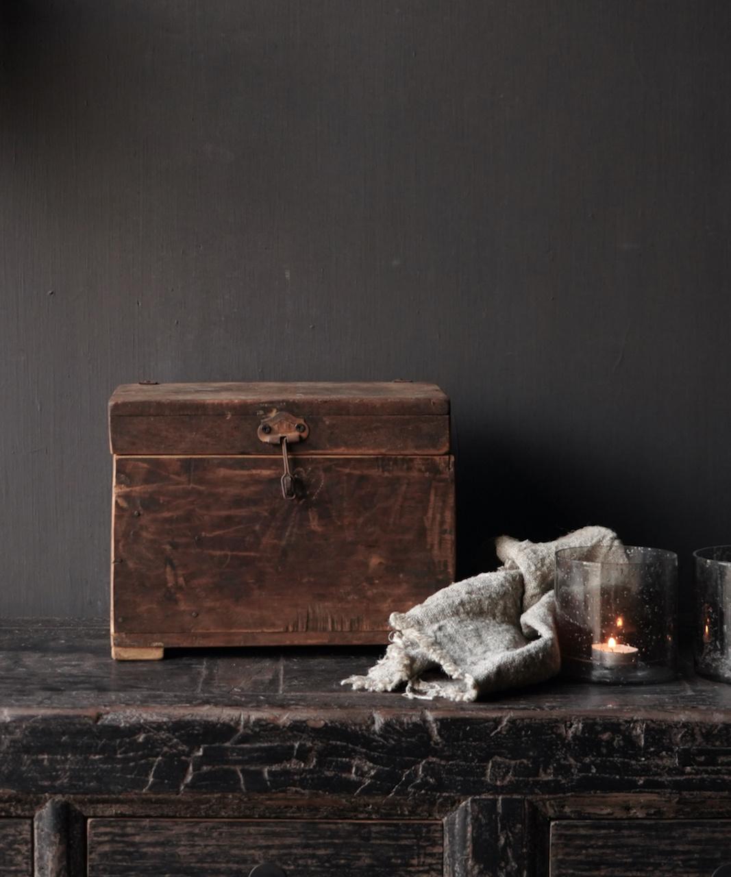 Old Unique Authentic wooden box-1