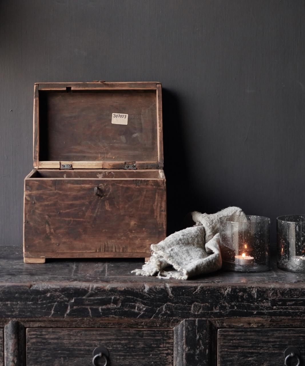 Old Unique Authentic wooden box-5