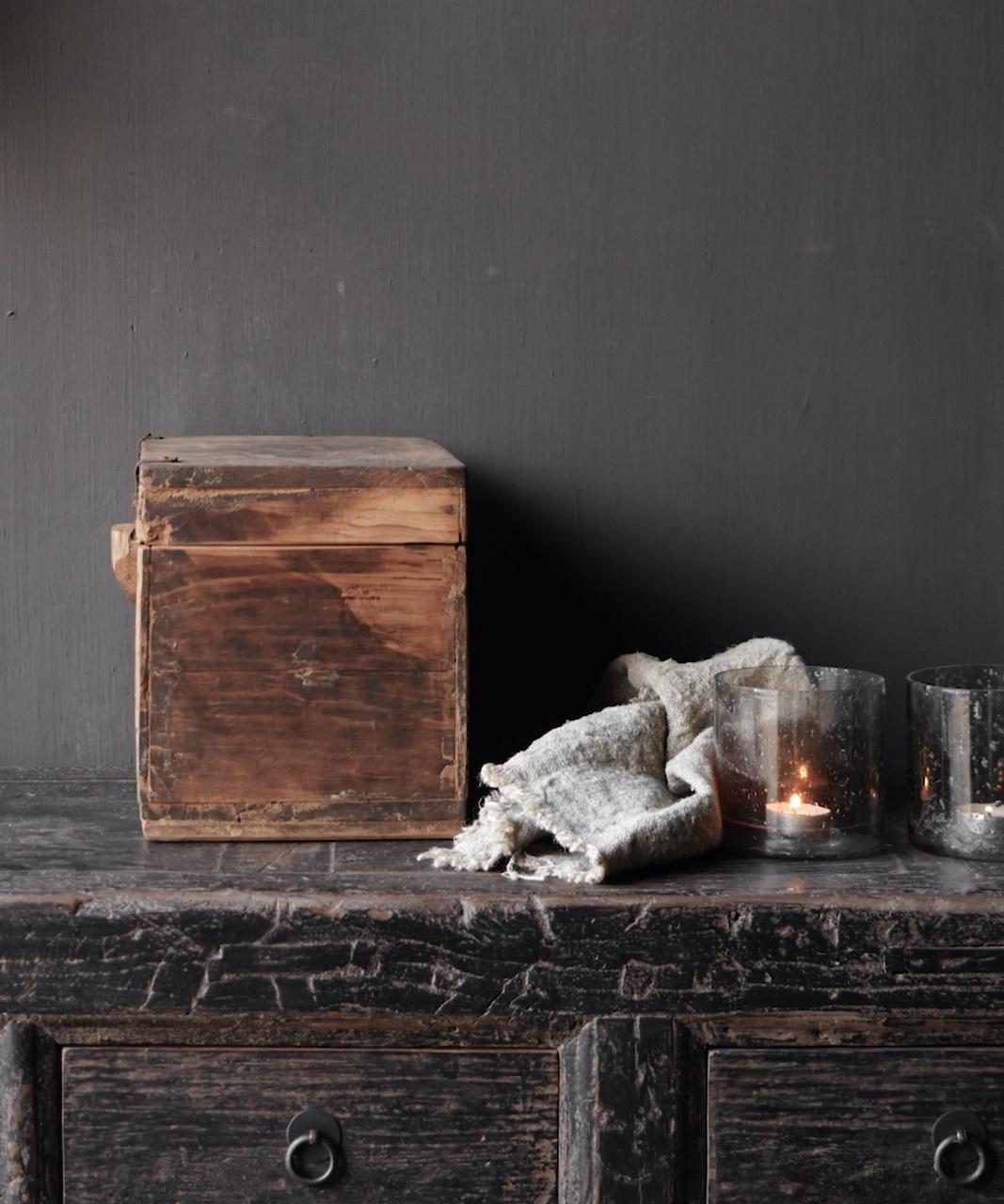 Old Unique Authentic wooden box-4