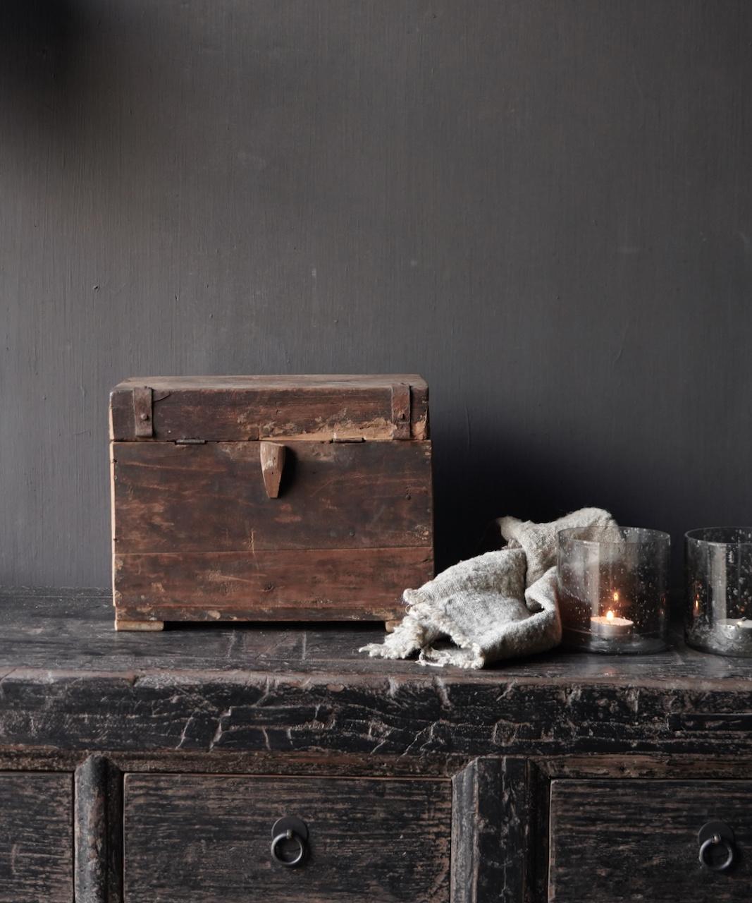 Old Unique Authentic wooden box-3