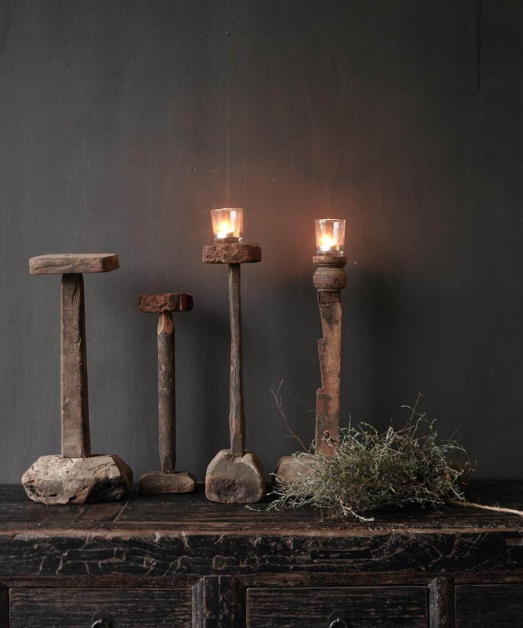 Wooden Stamper candlestick-1