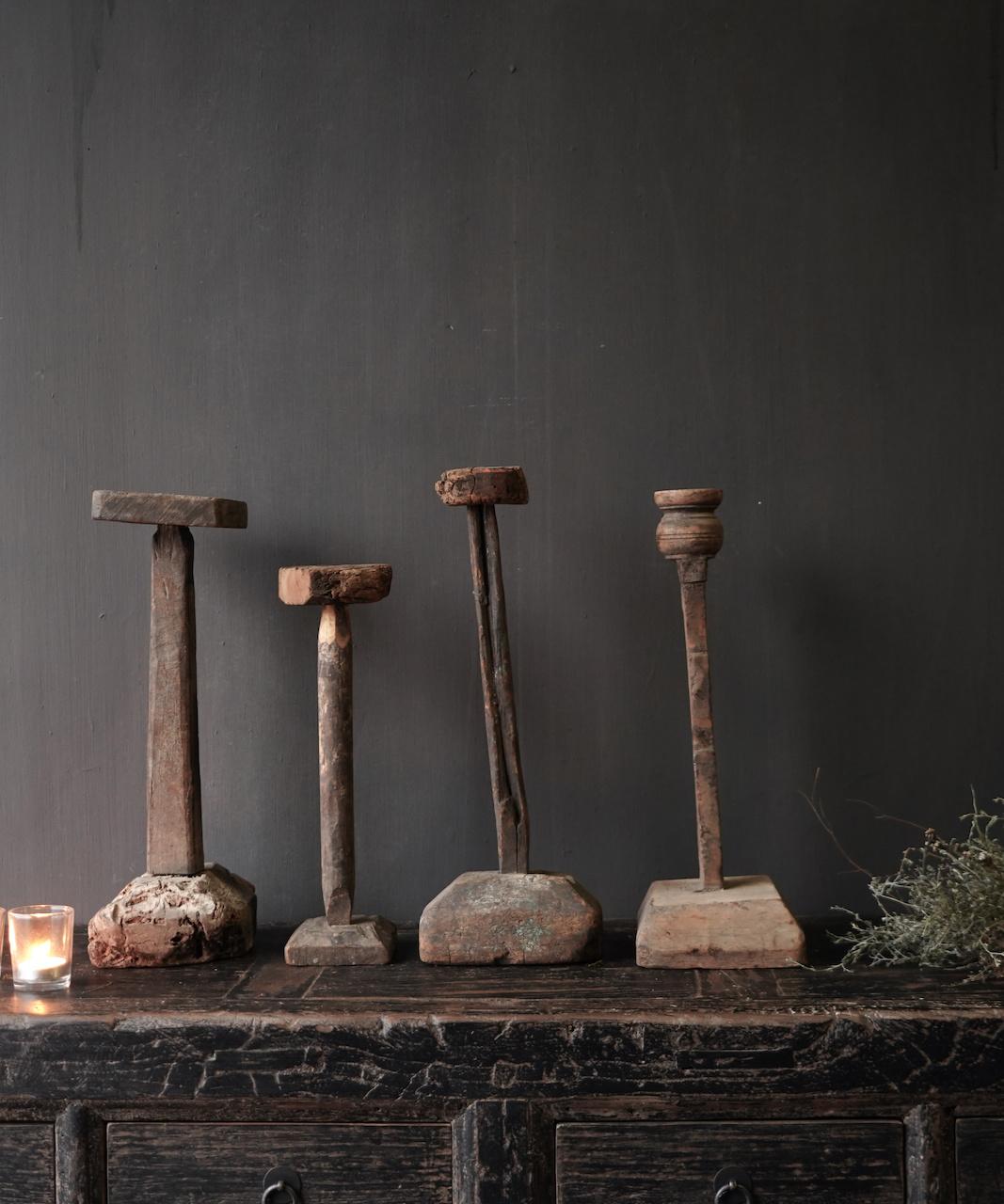 Wooden Stamper candlestick-3