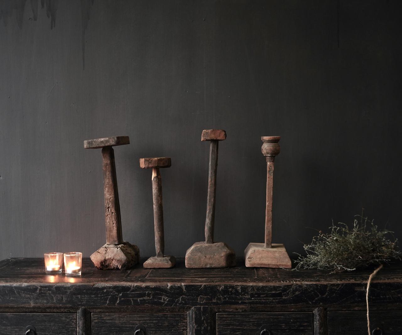 Wooden Stamper candlestick-4