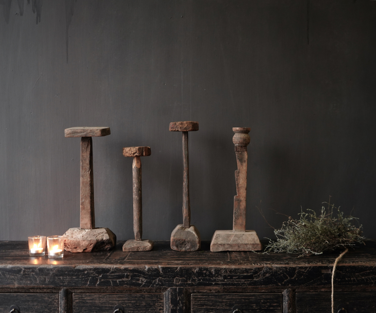 Wooden Stamper candlestick-5