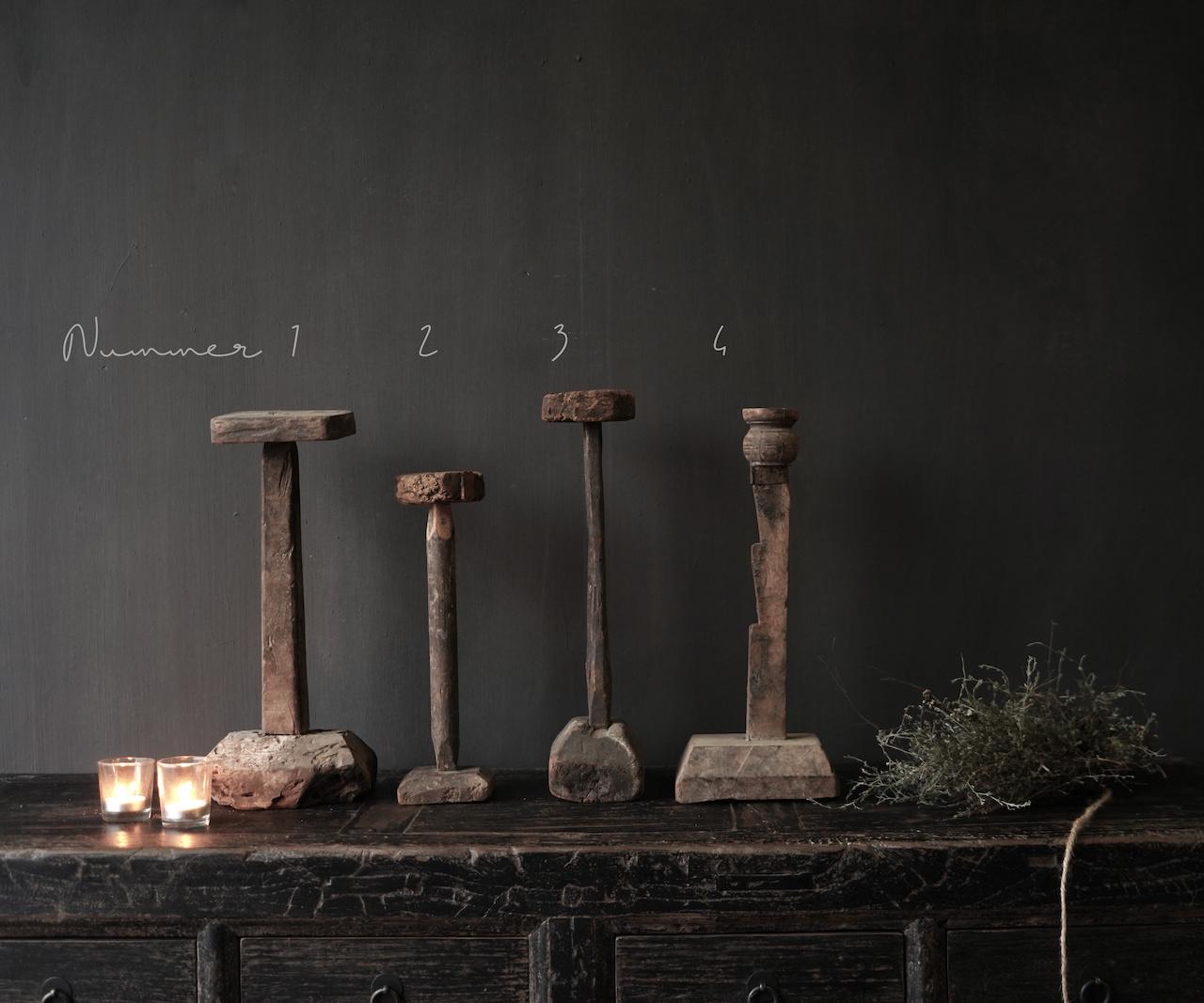 Wooden Stamper candlestick-2