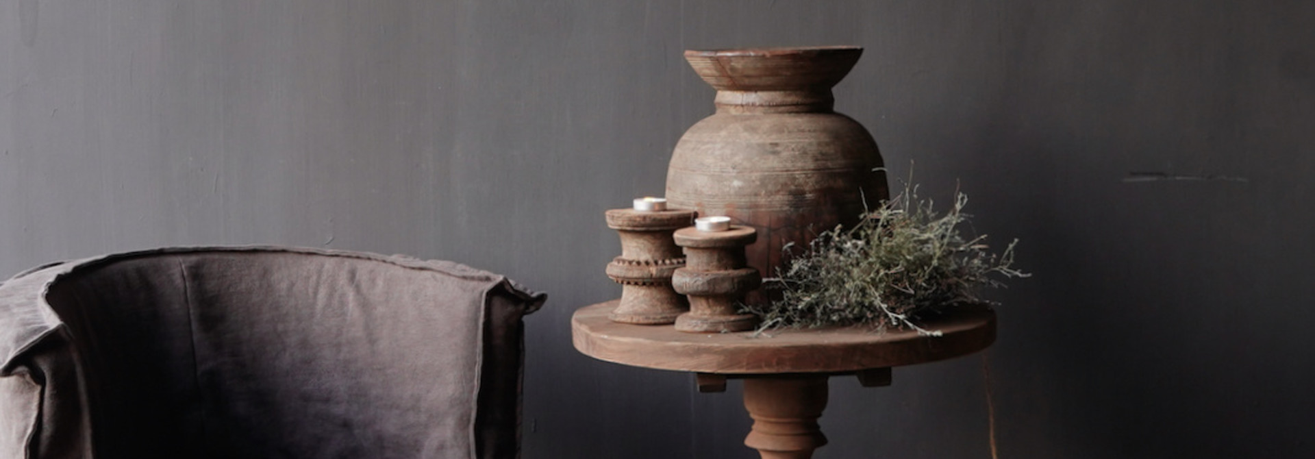 Old wooden wine table