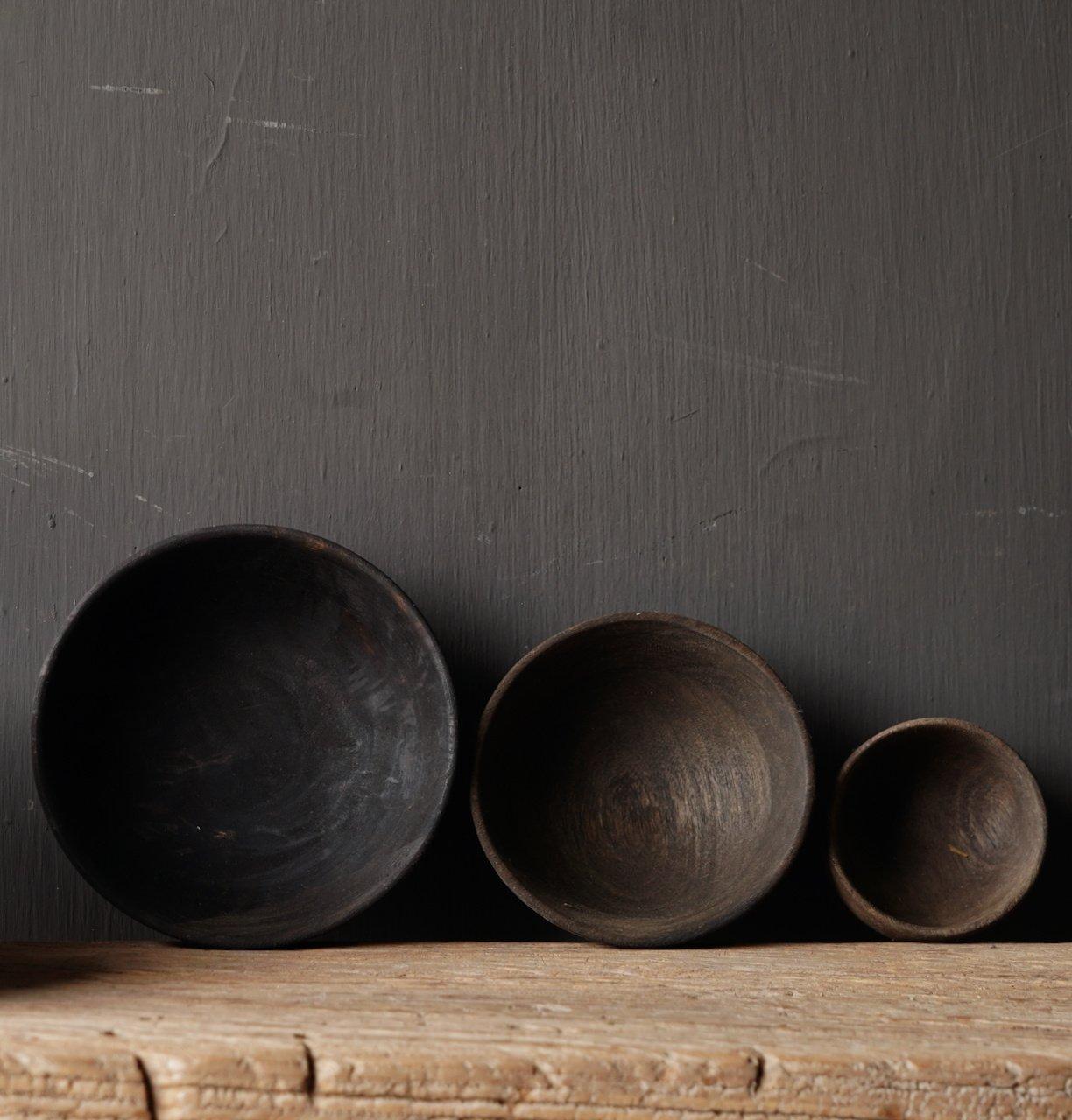 Stoer donker houten kommetje-6