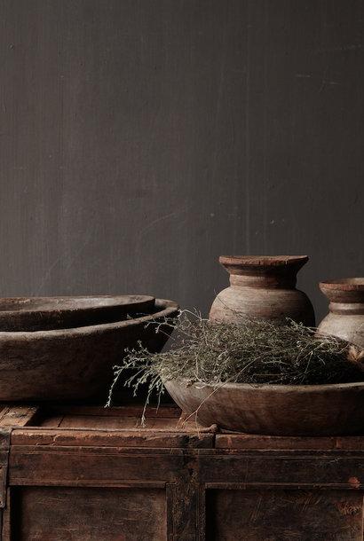 Authentische alte nepalesische Holzschale