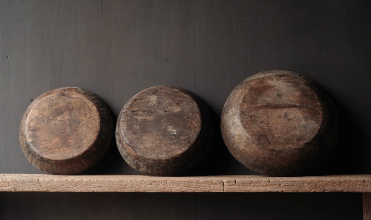Authentic old wooden Nepalese bowl-4