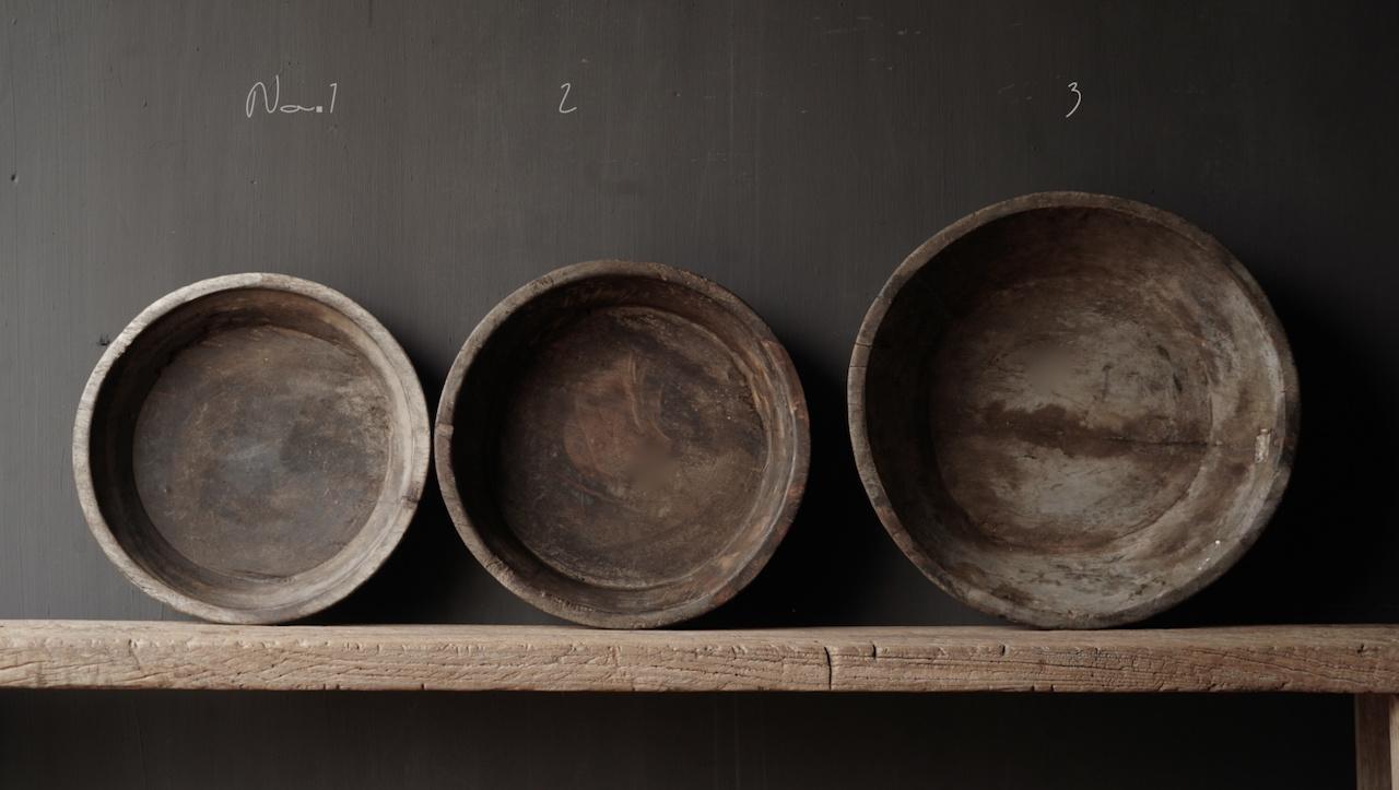 Authentieke oude houten Nepalese  schaal-3