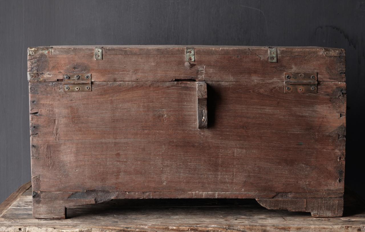 Oude Authentieke houten kist-5