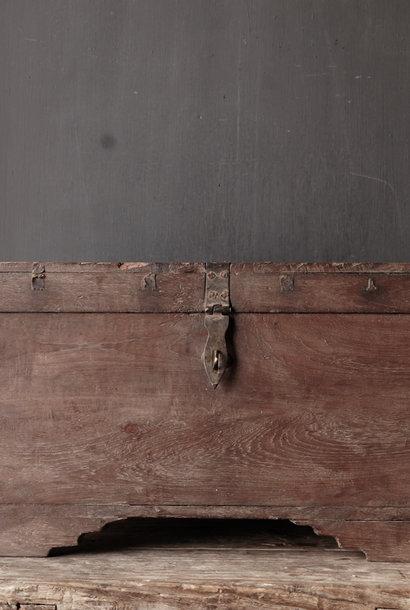 Oude Authentieke houten kist