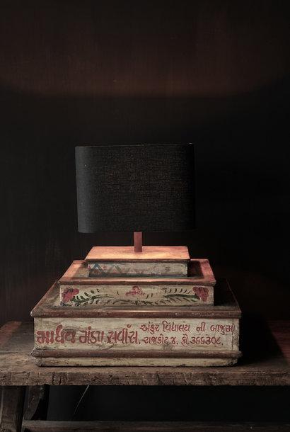 Unieke lamp voet van houten bruidscake etagere