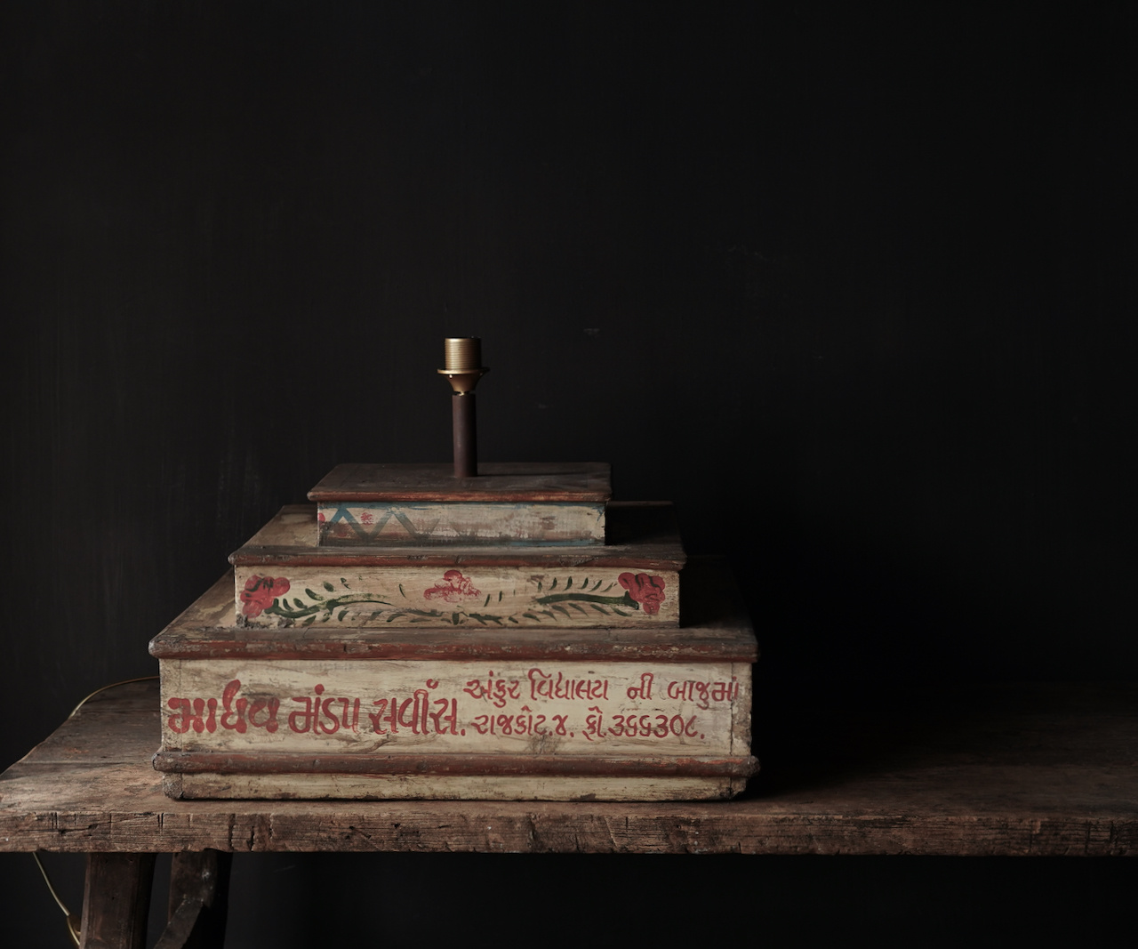 Unieke lamp voet van houten bruidscake etagere-4