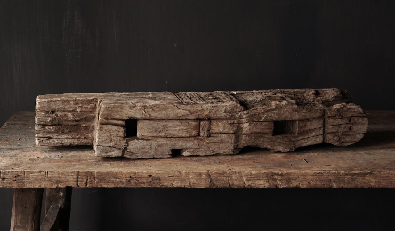 Einzigartige alte harte Holzverzierung-2