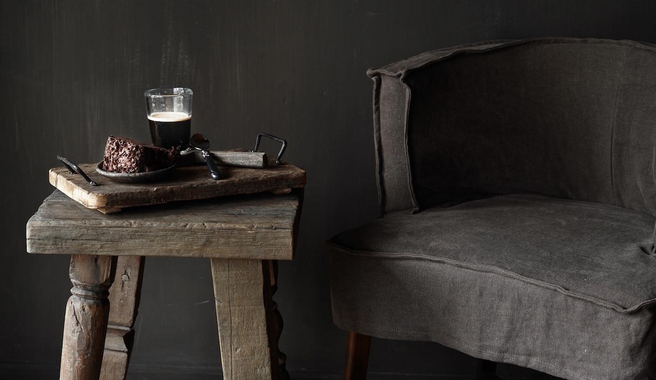 Uniek vierkant stoer robuust houten bijzet tafeltje met verschillende poten-4
