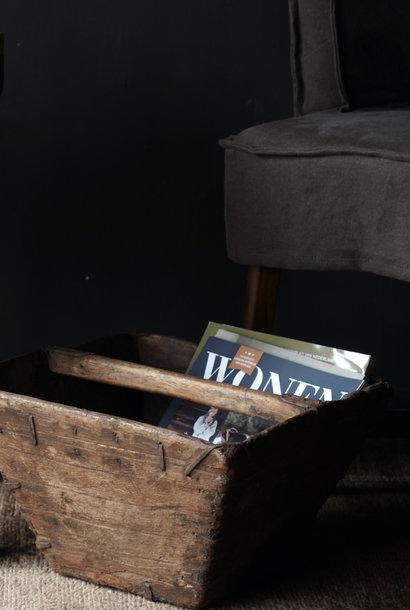 Oude houten zaaibak /rijstbak