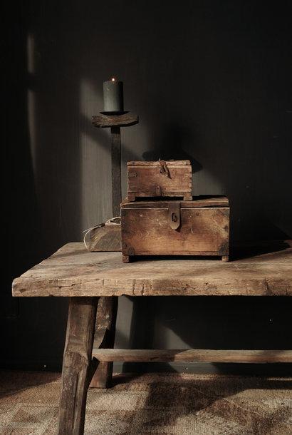 Oude Authentieke houten kistje