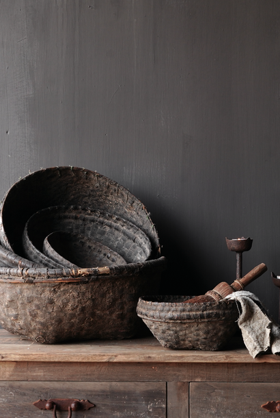 Authentic clay basket from