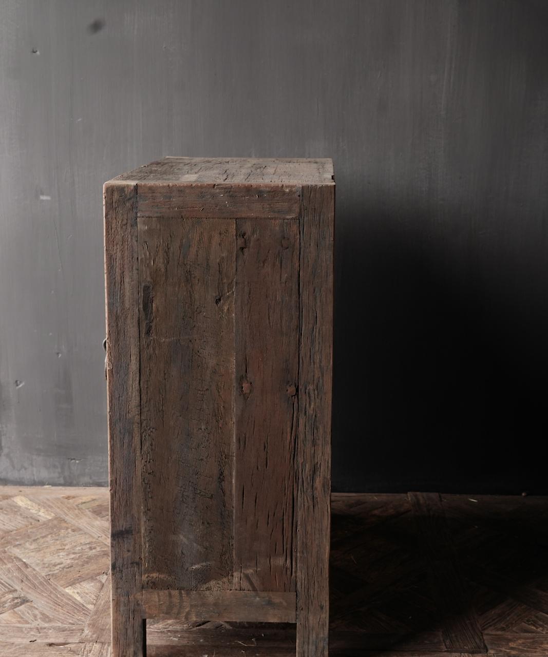 Bauern Zweitüriger Schrank aus altem Altholz-5