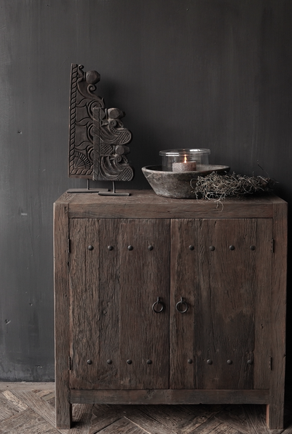 Farmers Two-door cupboard made of old used wood