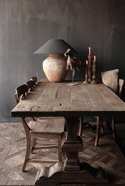 Abdijtafel /Kloostertafel  gemaakt van oud hout
